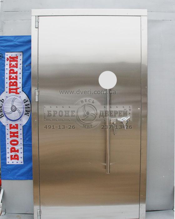 тамбурные двери металлические со вставкой сверху