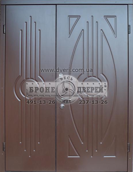 входные 2 х створчатые металлические двери