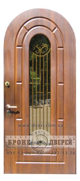 металлические двери с декоративной решеткой