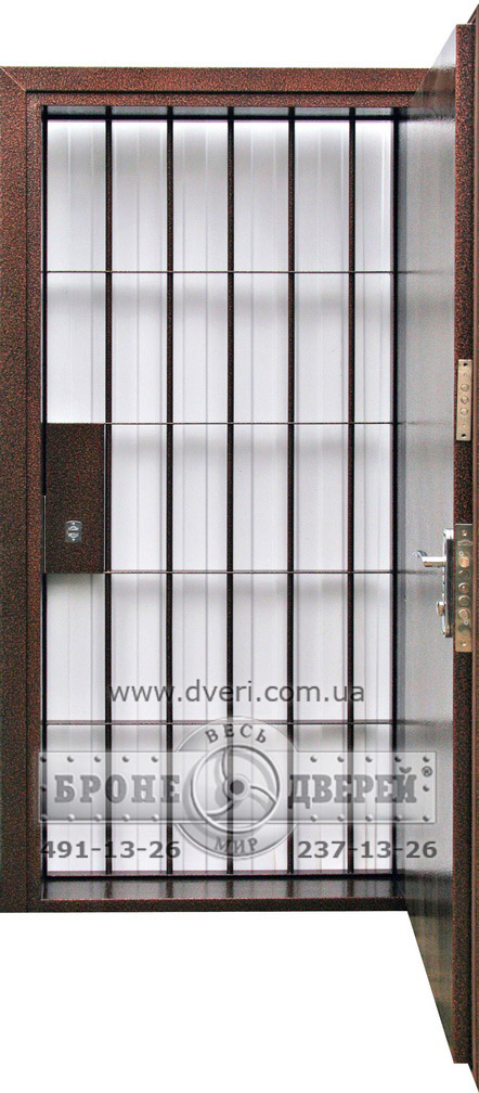 банковские металлические двери с решеткой